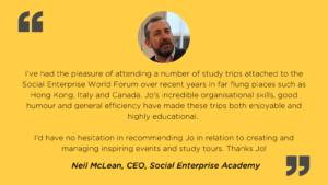 Client event testimonial by Social Enterprise Academy CEO, Neil McLean