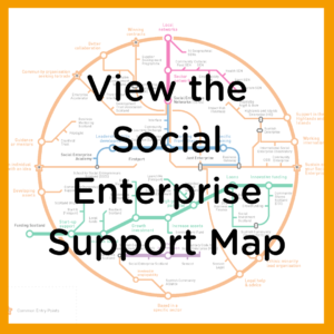 Network map with statement View Social Enterprise Support Map